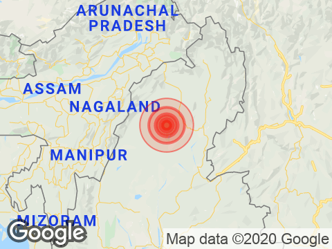 Manipur में Ukhrul के निकट रिक्टर पैमाने पर 3.9 तीव्रता वाले भूकंप के झटके
