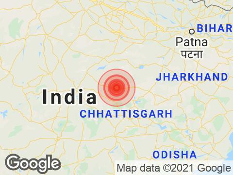 Chhattisgarh में Bilaspur के निकट रिक्टर पैमाने पर 3.9 तीव्रता वाले भूकंप के झटके