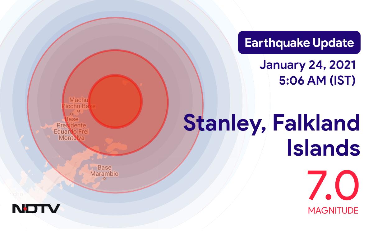 Earthquake With Magnitude 7 Strikes Near Stanley, Falkland Islands
