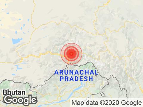 4.3 Magnitude Earthquake Strikes Near Arunachal Pradesh's Pangin
