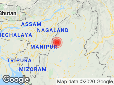 Manipur में Ukhrul के निकट रिक्टर पैमाने पर 3.1 तीव्रता वाले भूकंप के झटके