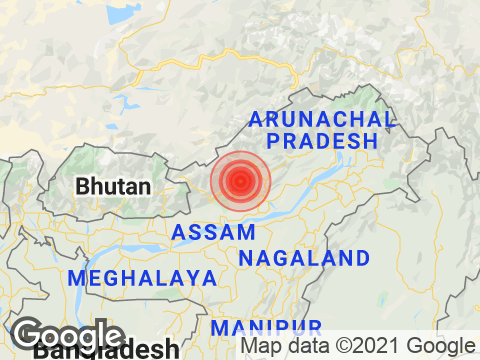 Magnitude 3.5 Earthquake Strikes Near Itanagar In Arunachal Pradesh