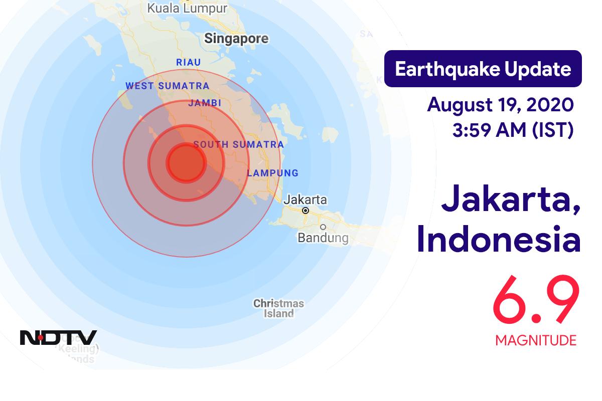 Earthquake near Jakarta, Indonesia Today with Magnitude 6.9 | Earthquake in Indonesia