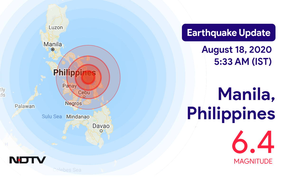 Earthquake near Manila, Philippines Today with Magnitude 6.4 | Earthquake in Philippines