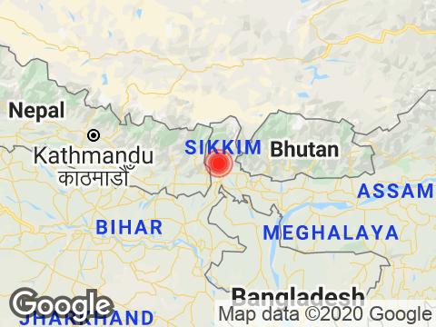 West Bengal में Drajeelind के निकट रिक्टर पैमाने पर 2.5 तीव्रता वाले भूकंप के झटके