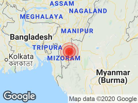 3.6 Earthquake Strikes Near Mizoram's Khawbung