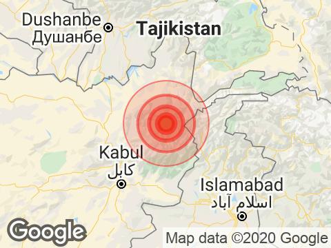 अफगानिस्तान में काबुल के निकट 5.0 तीव्रता वाले भूकंप के झटके