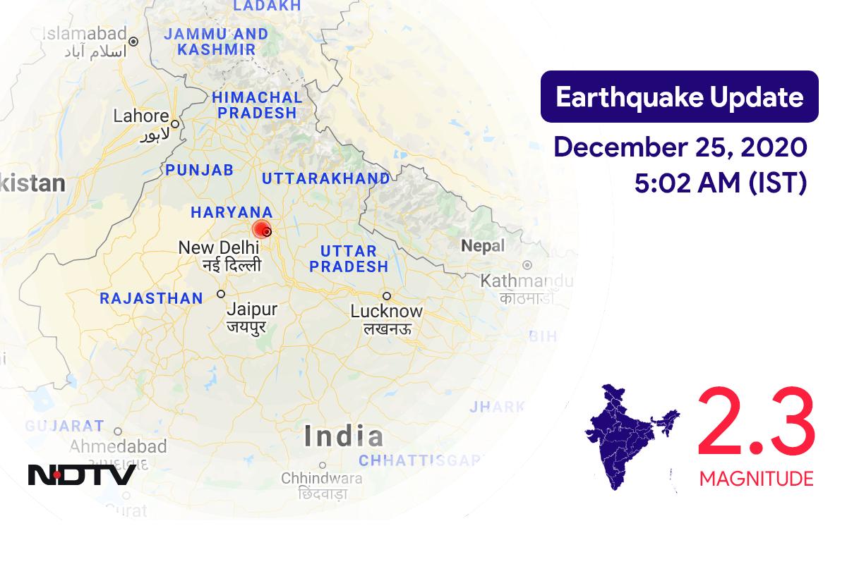 Earthquake With Magnitude 2.3 Strikes Near Delhi