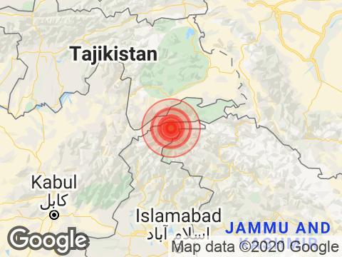 Jammu and Kashmir में Gulmarg के निकट रिक्टर पैमाने पर 3.8 तीव्रता वाले भूकंप के झटके