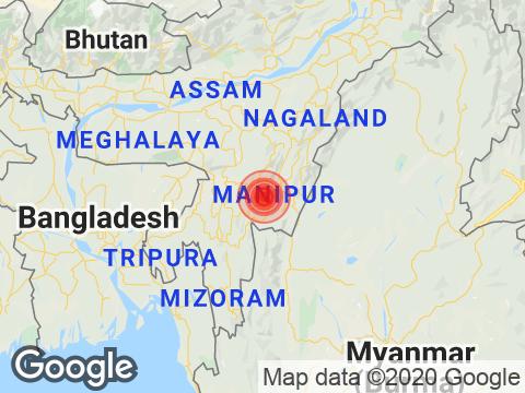 Manipur में Bishnupur के निकट रिक्टर पैमाने पर 3.2 तीव्रता वाले भूकंप के झटके
