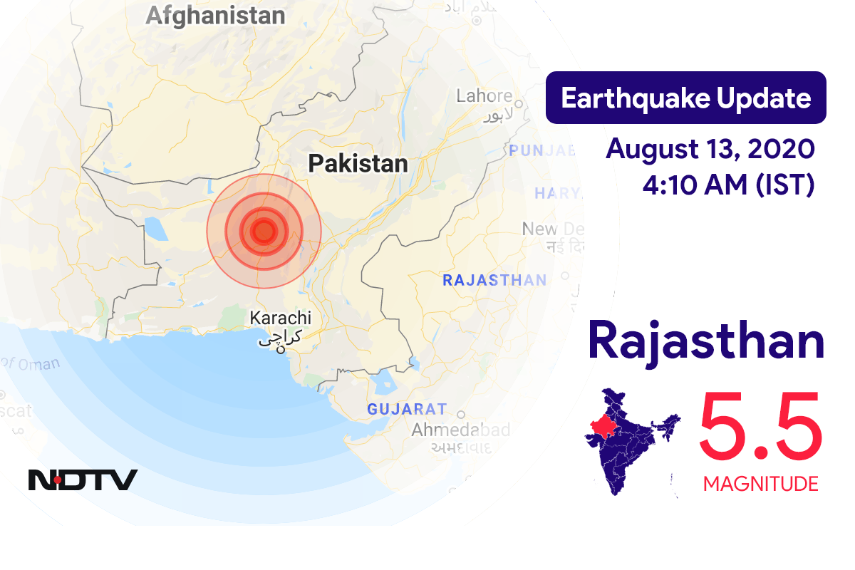 Magnitude 5.5 Earthquake Strikes Near Rajasthan's Bikaner