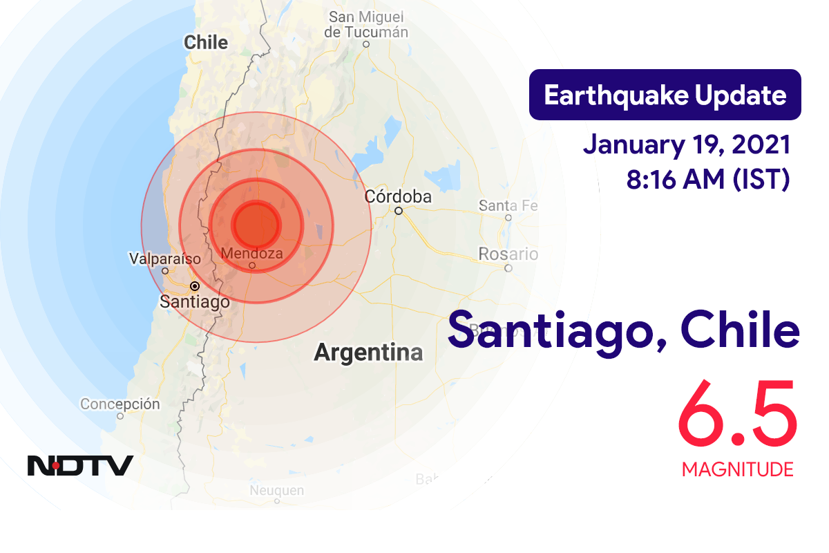 6.5 Earthquake Strikes Near Chile's Santiago