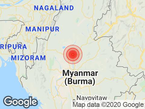 Manipur में Ukhrul के निकट रिक्टर पैमाने पर 3.6 तीव्रता वाले भूकंप के झटके