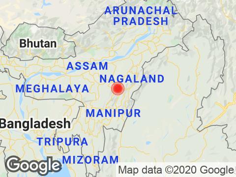 Nagaland में Kohima के निकट रिक्टर पैमाने पर 2.3 तीव्रता वाले भूकंप के झटके