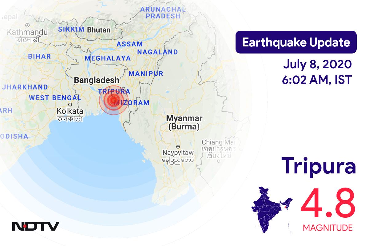 Magnitude 4.8 Earthquake Near Tripura's Belonia