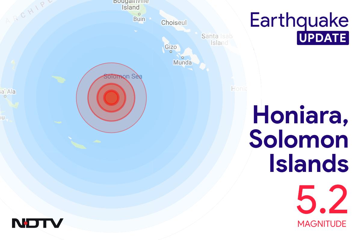 Earthquake With Magnitude 5.2 Strikes Near Honiara, Solomon Islands