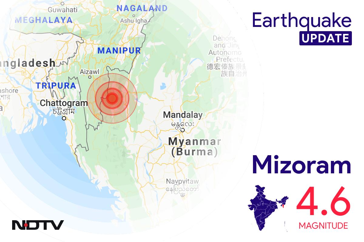 Earthquake In Mizoram With 4.6 Magnitude Near Champhai
