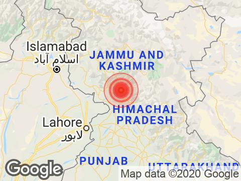 3.6 Magnitude Earthquake Hits Jammu And Kashmir's Gandoh