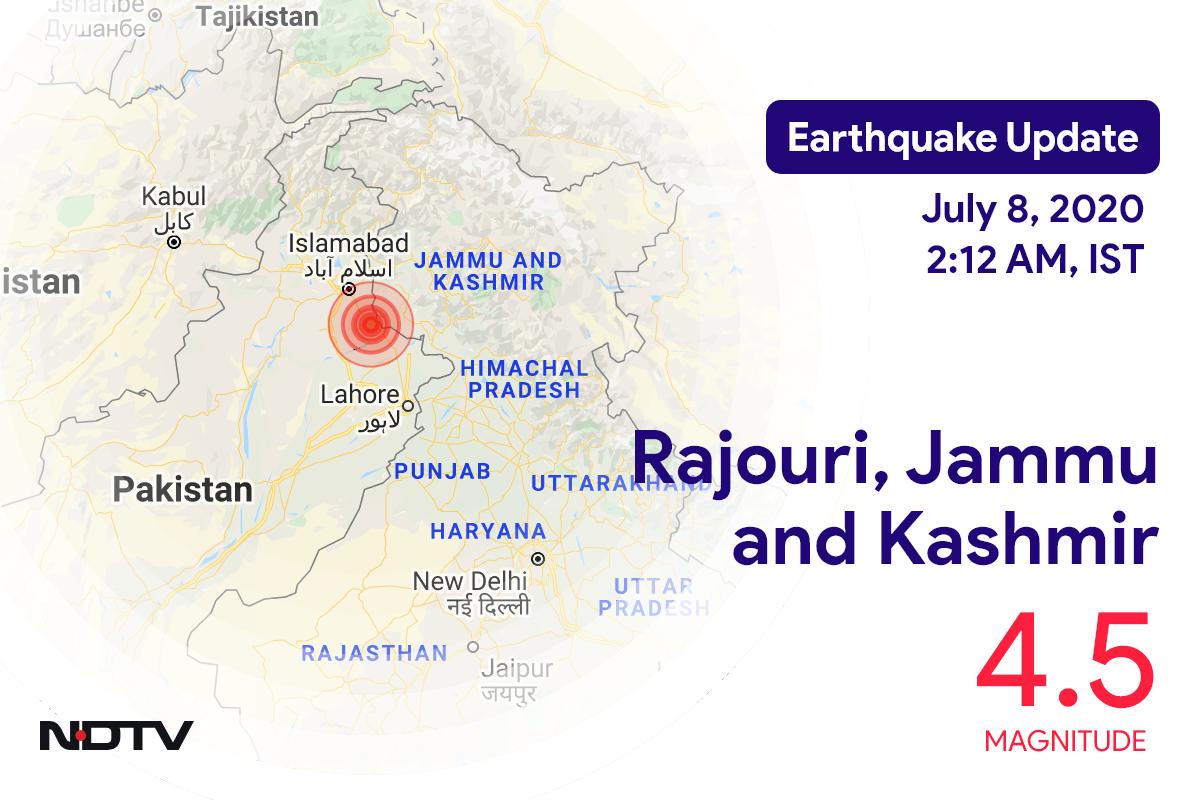 4.5 Magnitude Strikes Near Jammu and Kashmir's Rajouri
