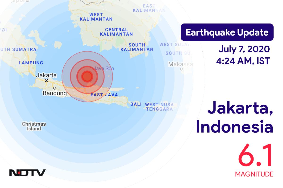 Earthquake With Magnitude 6.1 Strikes Near Indonesia's Jakarta