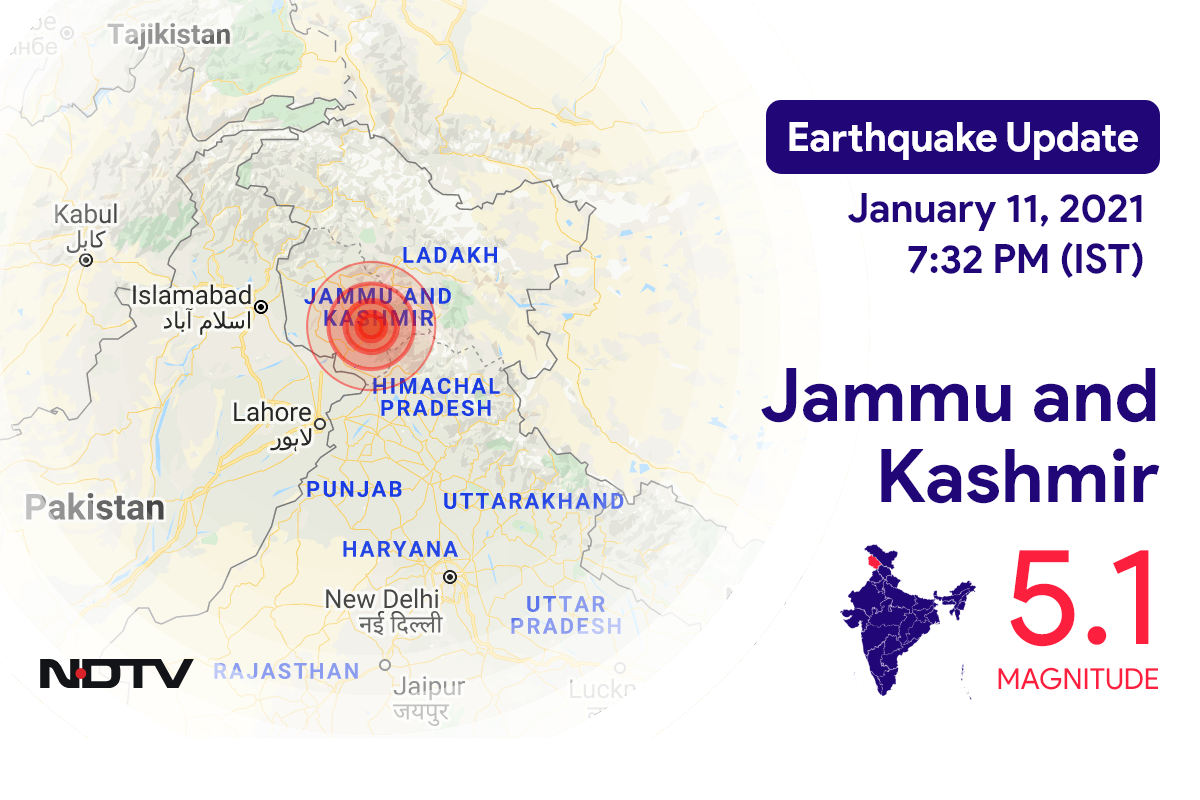 5.1 Intensity Earthquake Hits J&K's Katra