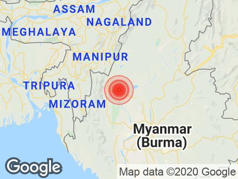 Mizoram में Champhai के निकट रिक्टर पैमाने पर 3.5 तीव्रता वाले भूकंप के झटके