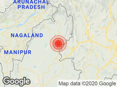 Arunachal Pradesh में Changlang के निकट रिक्टर पैमाने पर 3.7 तीव्रता वाले भूकंप के झटके