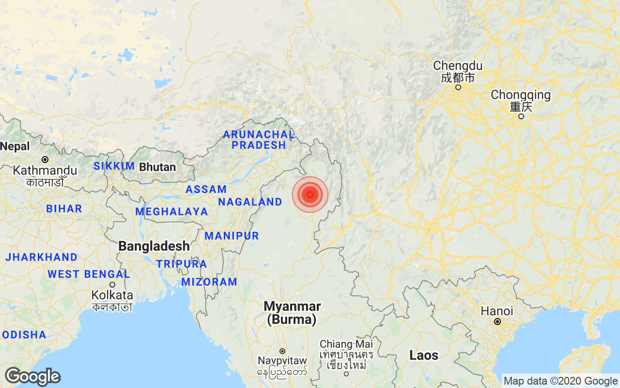 4.4 Magnitude Earthquake Strikes Arunachal Pradesh's Changlang