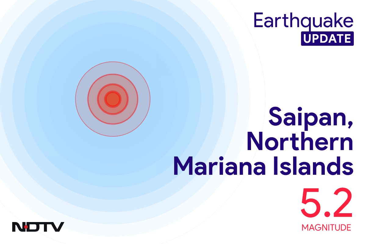 Earthquake With Magnitude 5.2 Strikes Near Saipan, Northern Mariana Islands