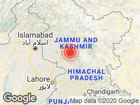 Jammu and Kashmir में Pahalgam के निकट रिक्टर पैमाने पर 3.4 तीव्रता वाले भूकंप के झटके