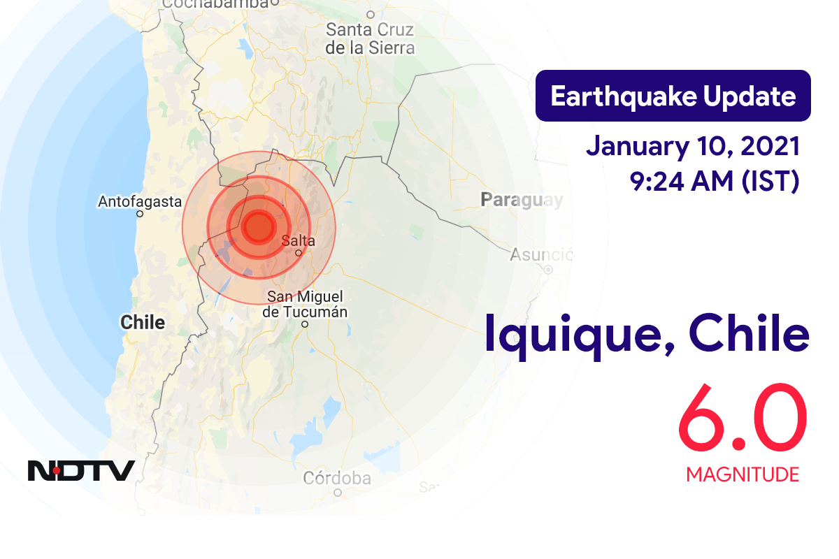 Earthquake With Magnitude 6 Strikes Near Chile's Iquique