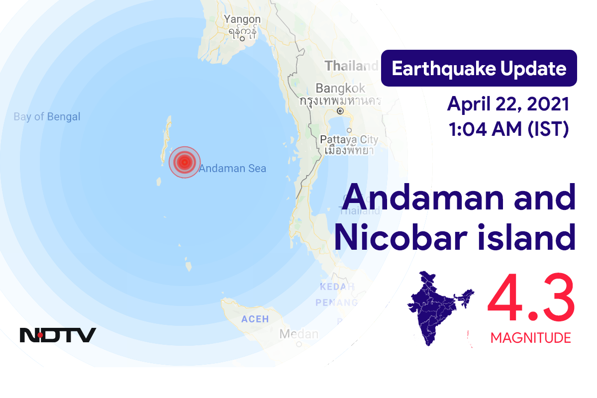 4.3 Magnitude Earthquake Hits Andaman And Nicobar