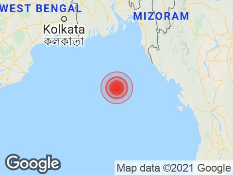 West Bengal में Haldia के निकट रिक्टर पैमाने पर 4.3 तीव्रता वाले भूकंप के झटके