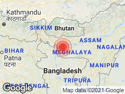 Magnitude 4.3 Earthquake Hits Meghalaya