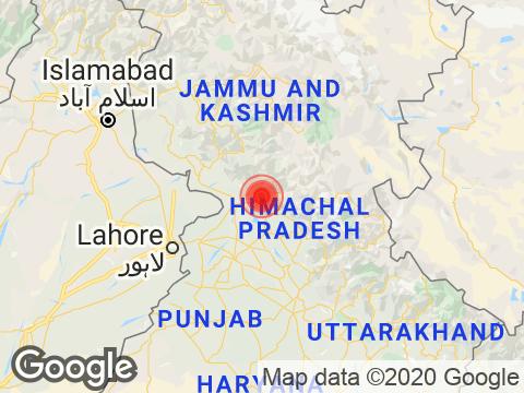 Himachal Pradesh में Dharamshala के निकट रिक्टर पैमाने पर 2.8 तीव्रता वाले भूकंप के झटके
