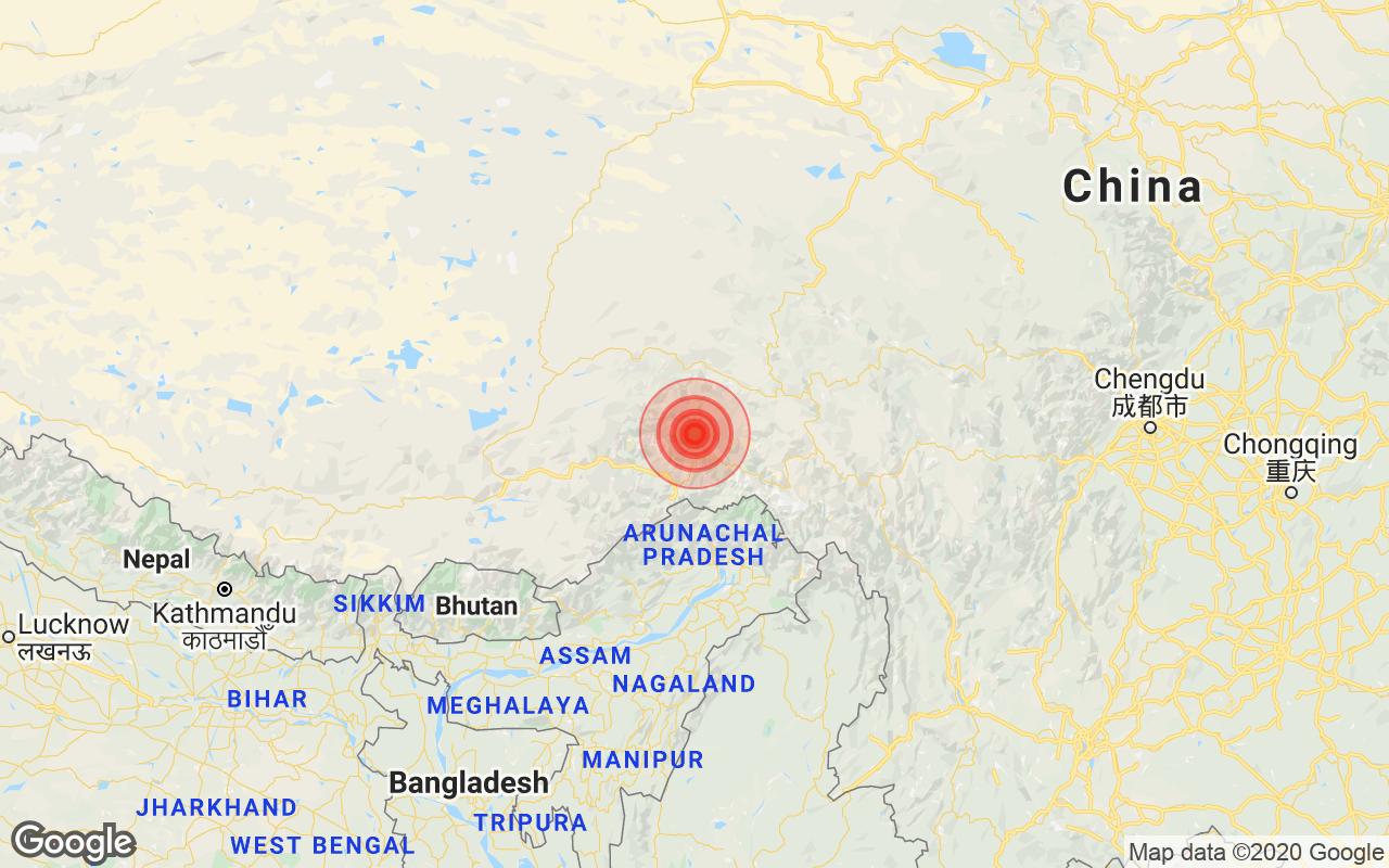 Earthquake in Arunachal Pradesh With Magnitude 4.8 Strikes Near Pangin