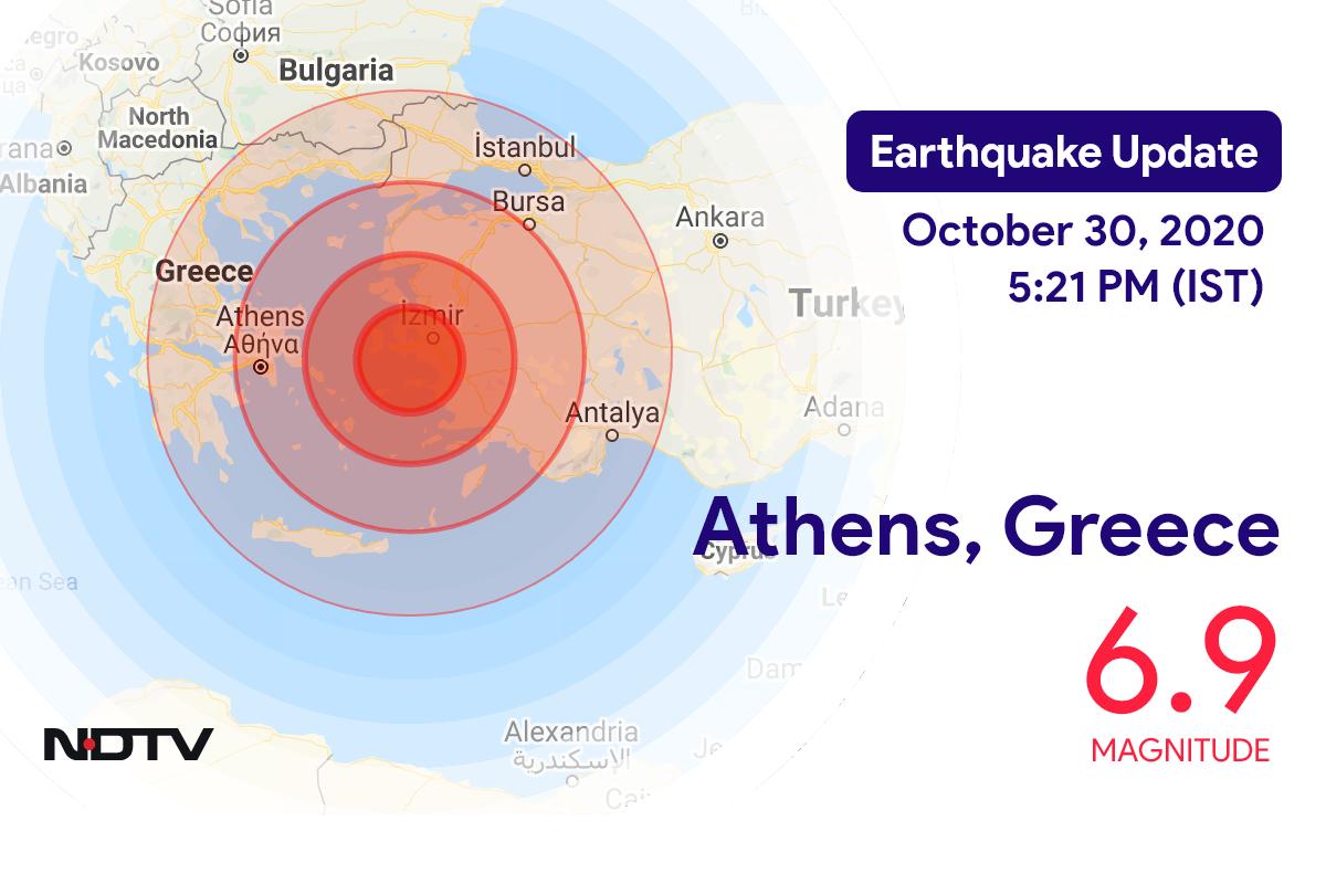 Earthquake With Magnitude 6.9 Strikes Near Athens, Greece