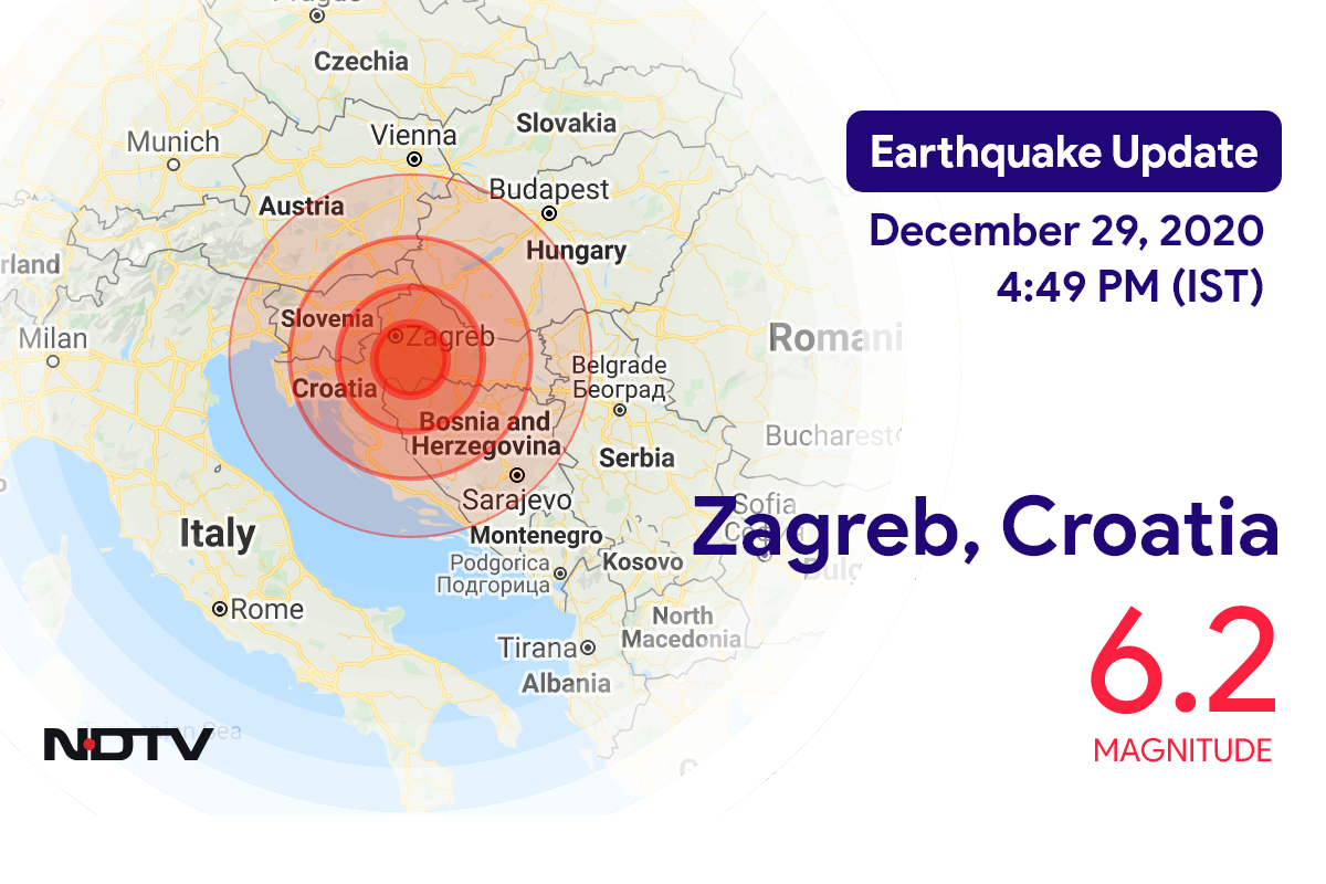 Earthquake Near Zagreb Croatia Today With Magnitude 6 2 Earthquake In Croatia