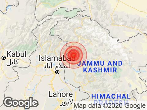4.5 Earthquake Strikes Near Jammu and Kashmir's Gulmarg