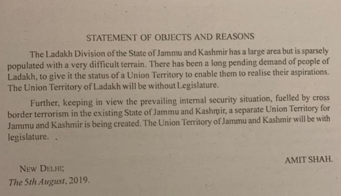 Article 370 Ladakh now union territory