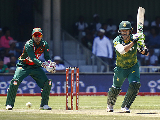 Du Plessis Injury Spoils South Africa Win vs Bangladesh