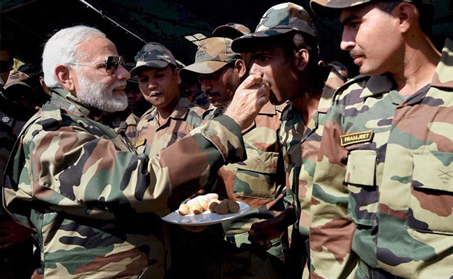PM Modi Celebrates Diwali With Soldiers - 'His Family' - In Kashmir