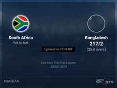 Bangladesh vs South Africa Live Score, Over 31 to 35 Latest Cricket Score, Updates