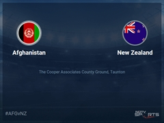 New Zealand vs Afghanistan Live Score, Over 31 to 35 Latest Cricket Score, Updates