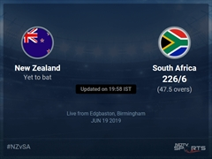 South Africa vs New Zealand Live Score, Over 46 to 50 Latest Cricket Score, Updates
