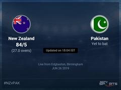 Pakistan vs New Zealand Live Score, Over 26 to 30 Latest Cricket Score, Updates