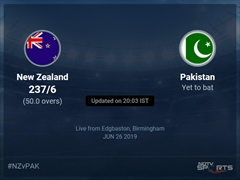 New Zealand vs Pakistan Live Score, Over 46 to 50 Latest Cricket Score, Updates
