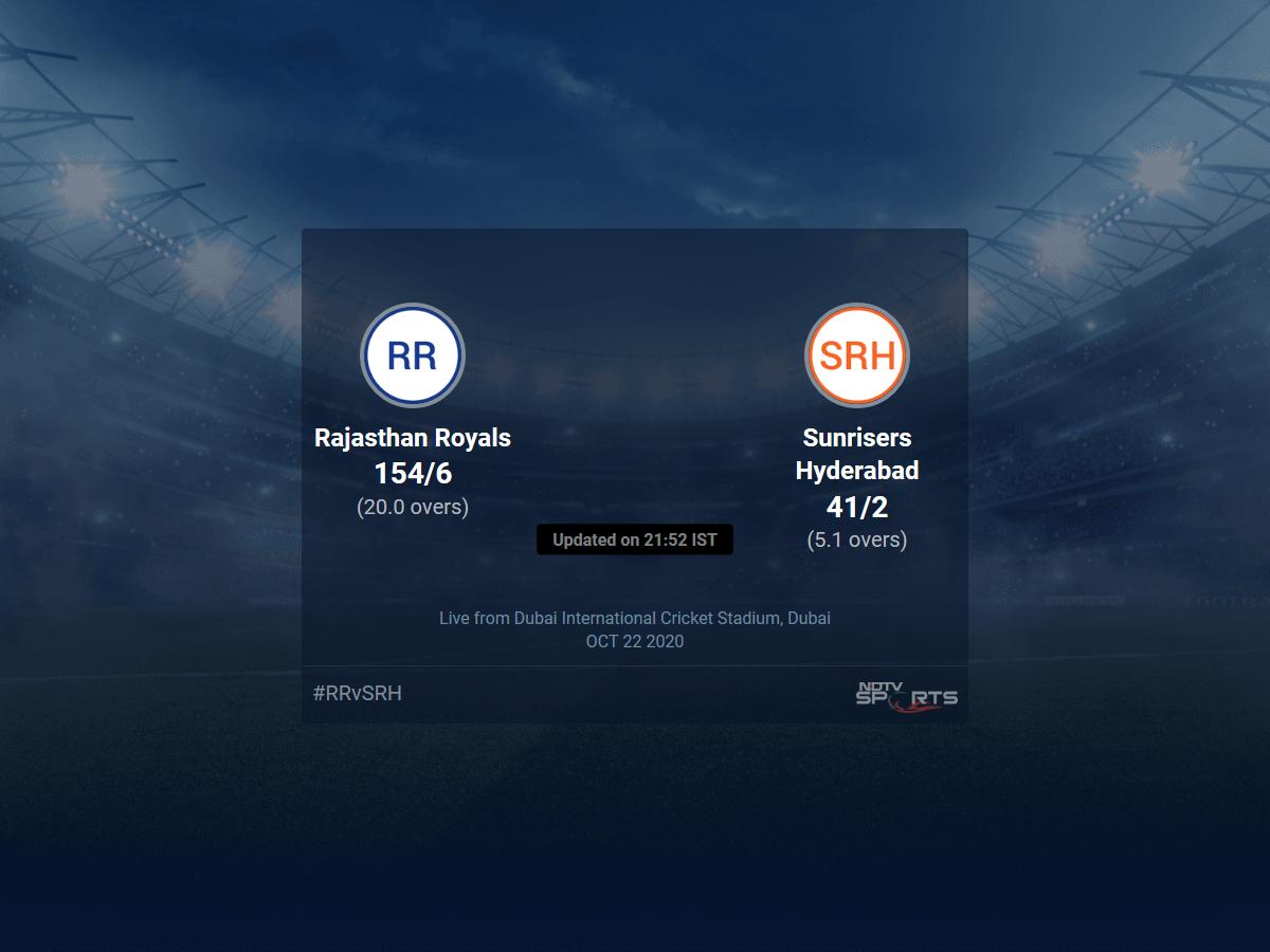 Photo of Rajasthan Royals vs Sunrisers Hyderabad live score over Match 40 T20 1 5 updates