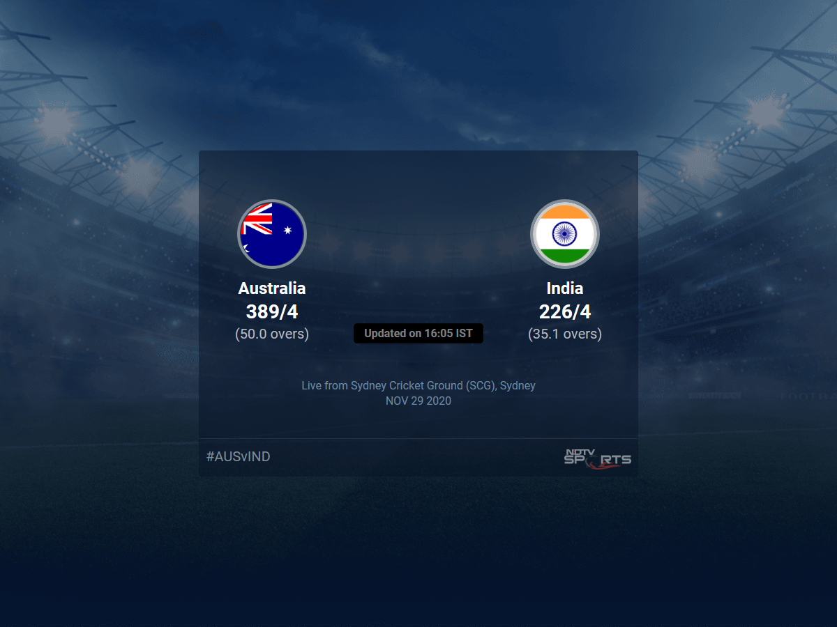Australia Vs India Live Score Over 2nd Odi Odi 31 35 Updates Cricket News