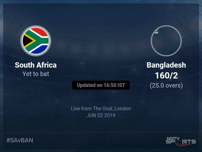 South Africa vs Bangladesh Live Score, Over 21 to 25 Latest Cricket Score, Updates